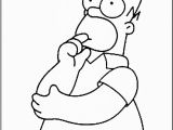 Homer Simpson Coloring Page Free Printable Simpsons Coloring Pages for Kids