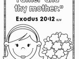 Honor Thy Father and Mother Coloring Pages Bible Verse for Kids Archives the Crafty Classroom