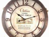 Horloge Murale Wall Clock Les Tresors De Lily [p1453] Horloge Murale Terroir Francais Chateau De Saint Emile Bordeaux 50 Cm
