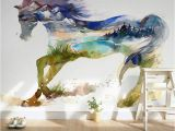 Horse Murals for Bedroom Walls Children S Room Wall Paper Sticker Painted Horse Wallpaper