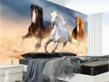Horse Murals for Bedroom Walls Custom Wallpaper Modern Animal Oil Painting Galloping Horse