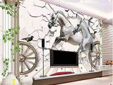 Horse Murals for Bedroom Walls Yonthy 3d Mural Wall Sticker Wallpaper Horse Stone Rome Column