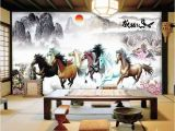 Horse Murals for Walls Beibehang Custom 3d Hd 8 Horses Wallpaper Living Room sofa Tv
