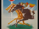 Horse Racing Wall Murals Vintage French Grand Prix Horse Racing Print Loterie