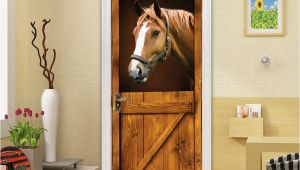 Horse Stable Wall Mural Amazon Congchuara Door Stickers Popular Diy 3d Door
