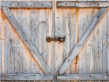 Horse Stable Wall Mural Detail Of Wooden Barn Door Wall Mural Vinyl