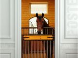 Horse Stable Wall Mural Giant Door Wall Sticker Decole Horse Stole Stable Country