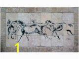 Horse Tile Murals 15 Best Horse Backsplash Designs Images