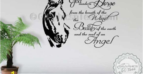 Horse Wall Mural Stickers Horse Wall Sticker God Made A Horse Wall Sticker Quote