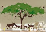 Horse Wall Mural Stickers Wall Decal Tree Wall Mural Horses Decal Vinyl Wall Decor