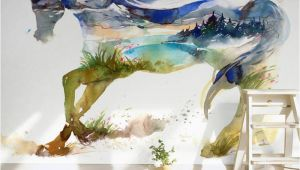 Horse Wall Murals Cheap Children S Room Wall Paper Sticker Painted Horse Wallpaper