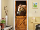 Horse Wall Murals Wallpaper Amazon Congchuara Door Stickers Popular Diy 3d Door