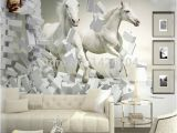 Horse Wall Murals Wallpaper Great Wall 3d White Horse Wall Murals Wallpaper 3d Horse