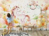 Horse Wall Murals Wallpaper nordic Minimalist Fantasy Pony Wallpaper Wall Murals Idcwp