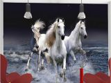 Horse Wall Murals Wallpaper Wallpaper 3d Stereo White Horse Spray Splash Landscape Mural Living Room Bedroom Classic Home Decor Wallpaper for Walls 3d Full Hd Wallpaper