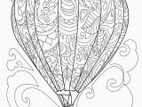 Hot Air Balloon Coloring Page for Adults Free Coloring Page