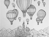 Hot Air Balloon Coloring Page for Adults Hot Air Balloon Adult Coloring Pages Intricate