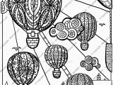 Hot Air Balloon Coloring Page for Adults Hot Air Balloon Coloring Page by Cheekydesignz On Deviantart