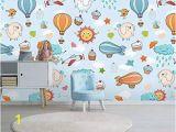 Hot Air Balloon Wall Mural Amazon Murwall Kids Wallpaper Little Hot Air Balloon