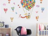 Hot Air Balloon Wall Mural Cute Hot Air Balloon and Heart Wall Decal Art Wall Stickers Home Room Decor Home Decal Stickers Home Decals From Aliceer $24 61 Dhgate
