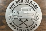 Hot Rod Garage Wall Murals 3d Hot Rod Garage Metal Wall Art Sign – Zug Monster