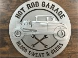Hot Rod Garage Wall Murals 3d Hot Rod Garage Metal Wall Art Sign – Zug Monster