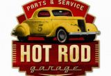 Hot Rod Garage Wall Murals Hot Rod Garage Metal Art Sign Plasma Cut Custom Shape