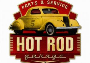 Hot Rod Garage Wall Murals Hot Rod Garage Metal Art Sign Plasma Cut Custom Shape