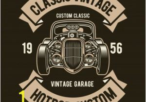 Hot Rod Garage Wall Murals Hotrod Custom Vector