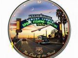 Hot Rod Garage Wall Murals Metal Clock Bobs Big Boy Hot Rod Classic Car Cruise
