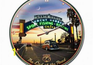 Hot Rod Garage Wall Murals Metal Clock Bobs Big Boy Hot Rod Classic Car Cruise