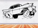 Hot Rod Wall Murals 57 Chevy 2 Muscle Car Decals Muscle Car Sticker Hot Rod
