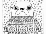 Household Items Coloring Pages Christmas Coloring Page Pug In Christmas Jumper with