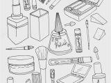 Household Items Coloring Pages Makeup Coloring Pages to and Print for Free