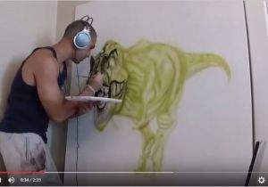 How to Airbrush Wall Murals 3d Wall Mural Time Lapse 3 Steps Instructables