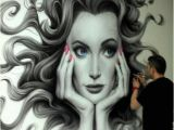 How to Airbrush Wall Murals Juanjo Baron Hair Art Whimsical