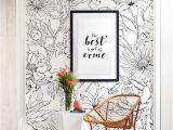 How to Frame A Wall Mural Botanical Garden Hand Drawn Flowers Mural Wall Art Wallpaper