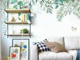 How to Hang A Wall Mural Hanging Spring Green Leaves Wallpaper Wall Mural Fresh Vine Branch