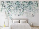 How to Hang Mural Wallpaper Watercolor Hanging Leaves Wallpaper Wall Mural Hanging Leaves Wall