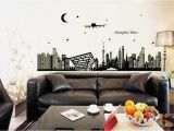 How to Install A Vinyl Wall Mural Amazon Msszff 3d Luminous Wall Stickers Shanghai