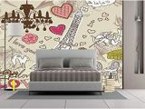 How to Install A Vinyl Wall Mural Amazon Wall Mural Sticker [ Paris Decor Doodles