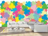 How to Install Wall Mural Multi Color Of Clubs Card Put Overlap to Pattern Colorful Of Geometry Shape Overlay to Texture Of Backdrop Wall Mural