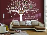How to Make A Family Tree Wall Mural Lskoo Family Tree Wall Decal Family Like Branches On A Tree Wall Decals Wall Sticks Wall Decorations for Living Room White