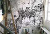 How to Make A Photo Into A Wall Mural 10 Fun Feature Walls for the Home Pinterest