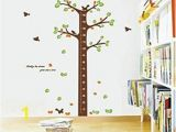 How to Make A Tree Wall Mural Tree Growth Chart Wall Decal Zobi Karikaturize