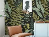 How to Make A Wall Mural at Home Botanical Wallpaper Ferns Wallpaper Wall Mural Green Home Décor