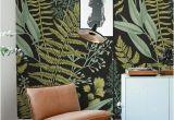How to Make A Wall Mural Botanical Wallpaper Ferns Wallpaper Wall Mural Green Home Décor
