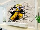 How to Make A Wall Mural From A Picture Dragon Ball Wallpaper 3d Anime Wall Mural Custom Cartoon