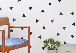 How to Make Wall Murals Diy Removable Triangle Wall Decals Diy S Pinterest