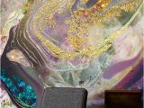 How to Make Your Own Wall Mural Gold Dust Purple In 2019 پتینه